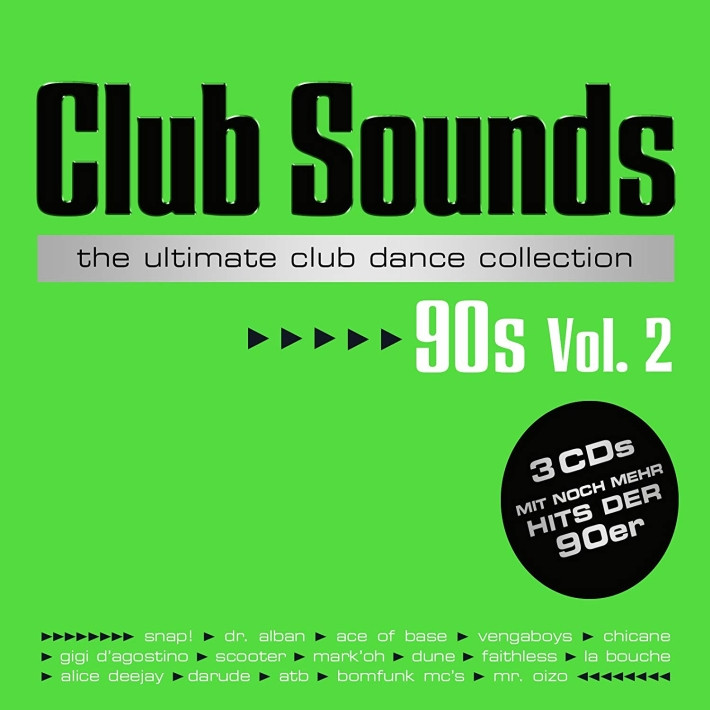 Kompilace - Club sounds-The ultimate club dance collection 90s-Vol. 2 (GR), 3CD, 2016